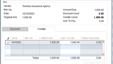 an invoice in Quickbooks